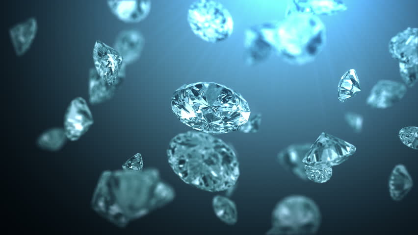 Frozen diamonds, beautiful background with a depth of field. 4K, seamless loop | Shutterstock HD Video #7545697