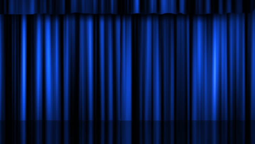 Theater Stage Curtains with Matte Stock Footage Video (100