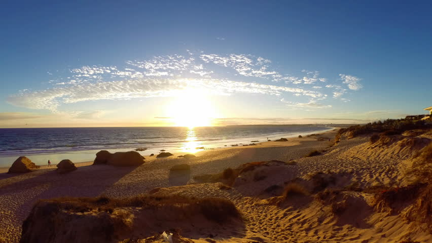 ALBUFEIRA - Praia da Gale, Sunset time lapse, Algarve, Portugal