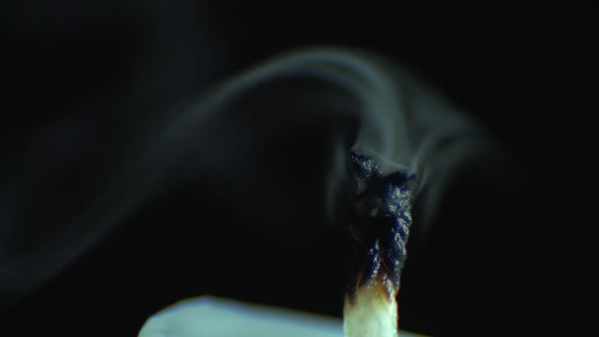 Candle blow out with smoke on black background | Shutterstock HD Video #7560604