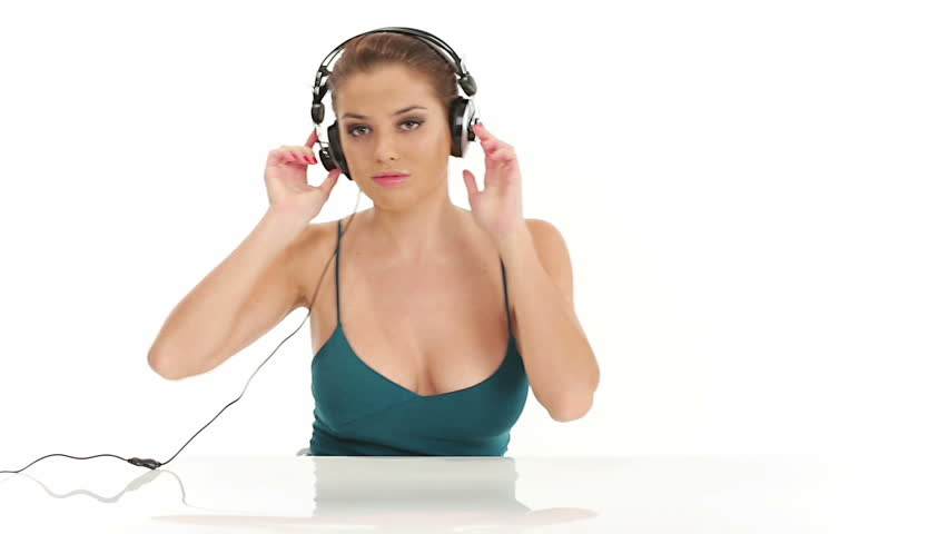 Stock Video Clip Of Young Beautiful Sexy Woman Listening Music In  Shutterstock-7889