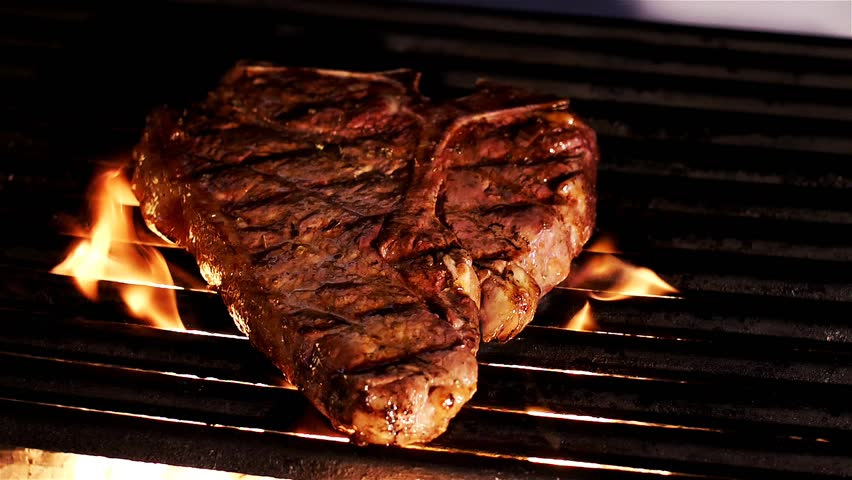 Summer BBQ Grill T-Bone Steak