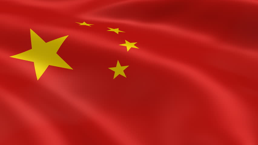 chinese flag in the wind. part of a series. stock footage video
