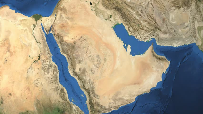Saudi Arabia. 3d earth in space - zoom in on Saudi Arabia contoured. Elements of this image furnished by NASA. | Shutterstock HD Video #7624402