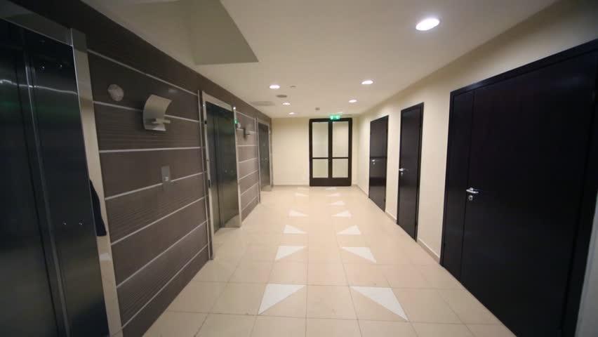 Scary Hallway Hotel Camera Travelling High Definition Pov