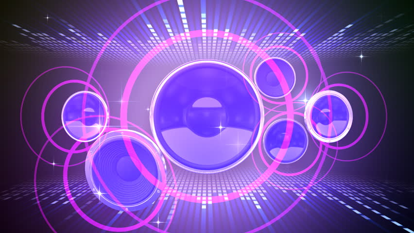 Disco Kaleidoscopes Background With Animated Glowing Neon