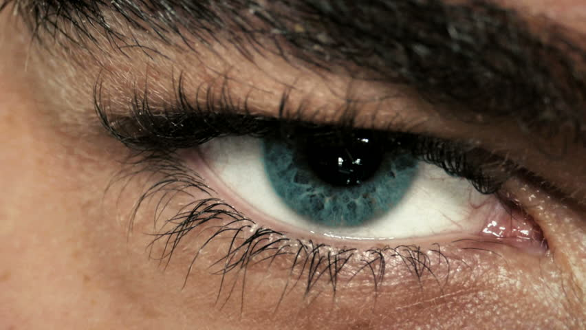 Mysterious man's eye closeup  #7725484