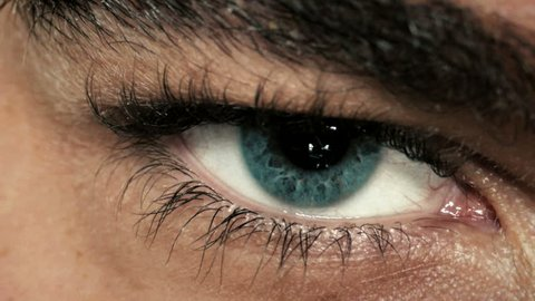 Mysterious man's eye closeup