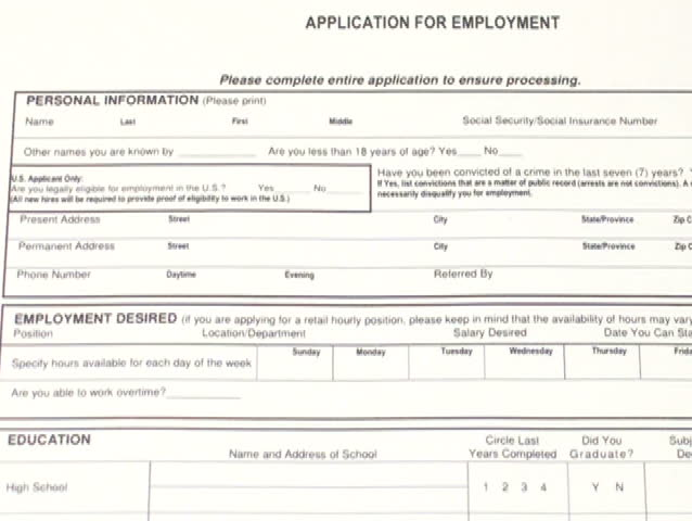 Stock Video Clip Of Job Application Form V1 Ntsc Shutterstock