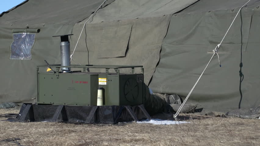Military Army Tent And Heater Stock Footage Video 7793254 | Shutterstock & ALBERTA CANADA April 2013. Military Army Tent And Heater Stock ...