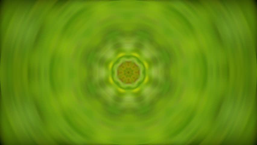 Green Organic Kaleidoscopic Video Background Loop | Shutterstock HD Video #7796884
