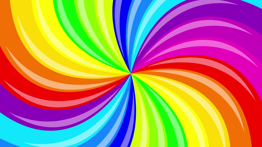 Clip 18130213 Stock Footage Rotating Rainbow Swirl Seamless Loop K Uhd Ultra Hd Resolution More Color Backgrounds on Green Spiral Pattern