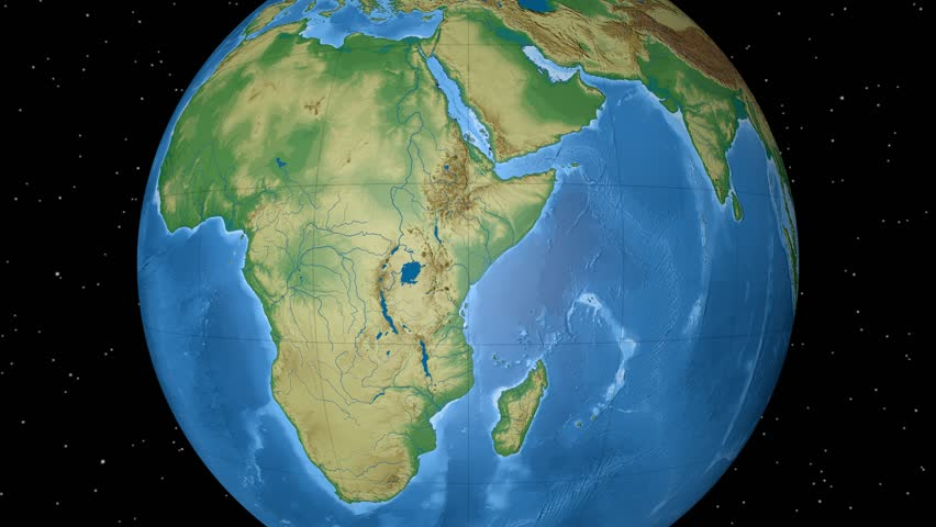 Map Of Africa From Space.Africa Physical World Globe Stock Footage Video 100 Royalty Free 7824124 Shutterstock