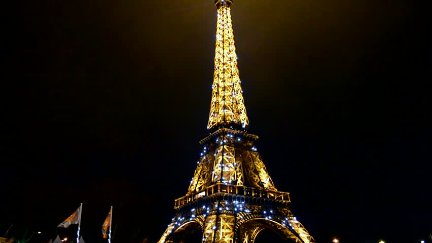 Vintage Dark Eiffel Tower View Stock Video Footage 4k And Hd Video