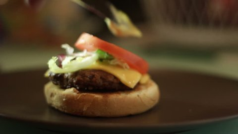 Hamburger cooking. Find similar clips in our portfolio.