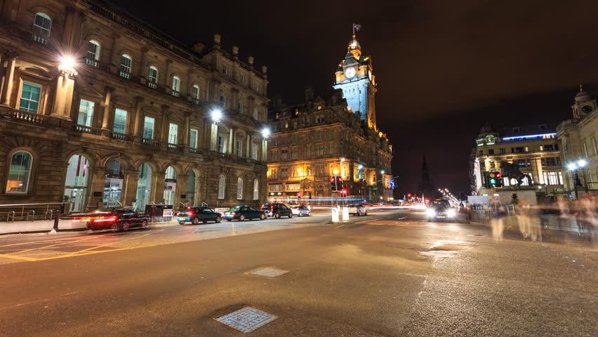 Edinburgh City Centre in Timelapse Motion
