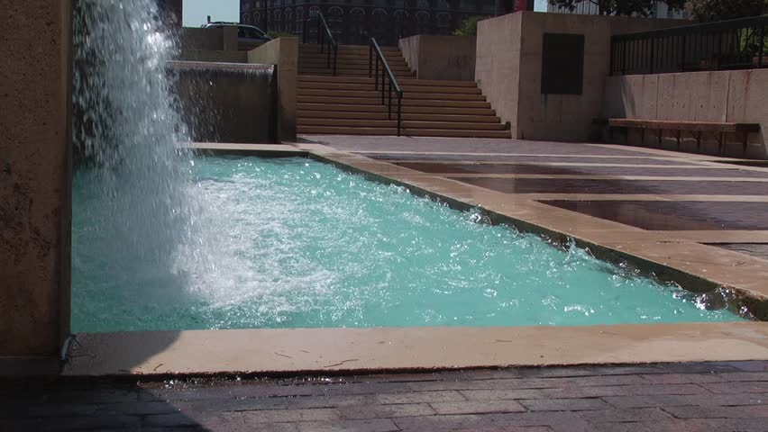 water feature in motion