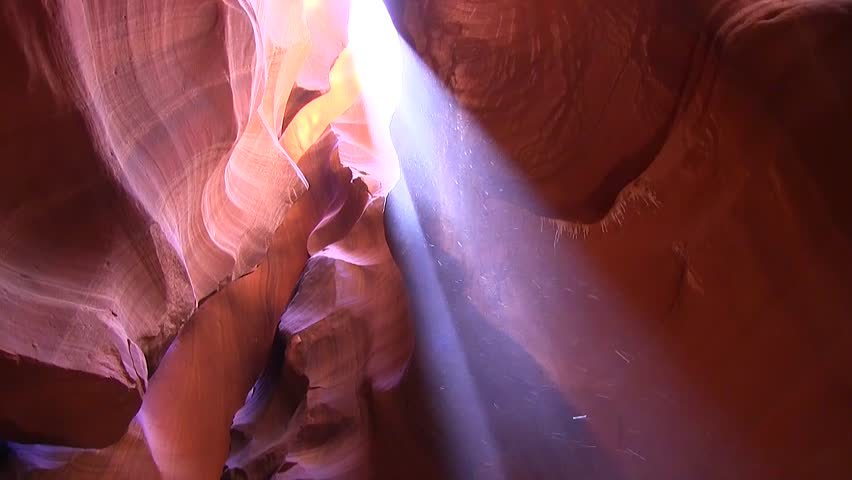 Sand and dust in Antelope Canyon. It is located in Arizona.