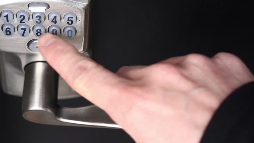 Entering a wrong code on a numeric door pad - HD stock video clip & Entering A Wrong Code On A Numerical Door Pad Stock Footage Video ...