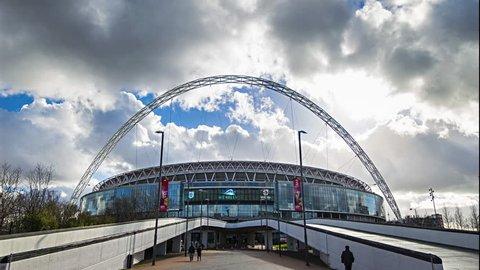London, England, June 2014 4k, Ultra HD hyper lapse of wembley stadium.