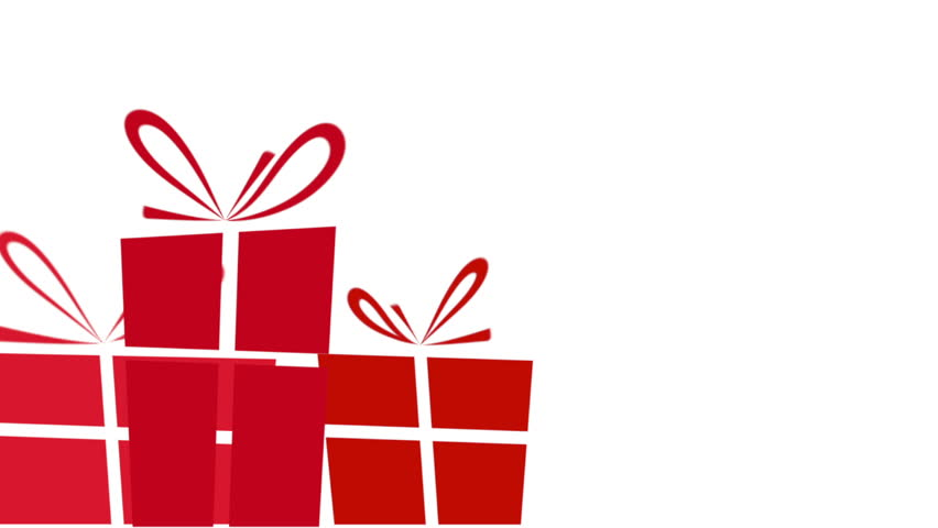 Animated gift boxes white background 4 in 1 loop stock footage animated red christmas presents on a white background with plenty of copy space for text or negle Images