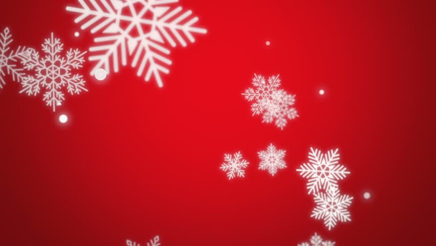 Beautiful animated Christmas snowflake on a red holiday background for use as is or with any seasonal text or graphic elements. Video is looped for buyer convenience.