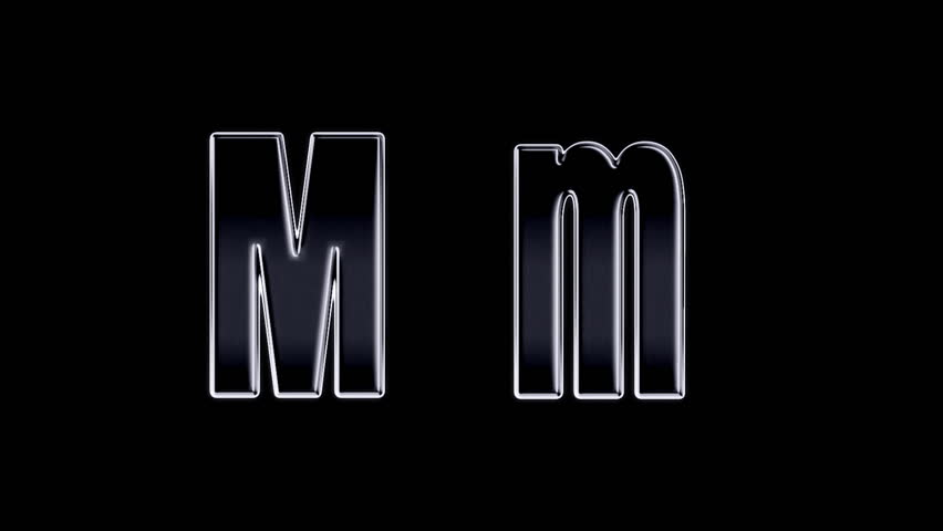 Letter M On Fire Is Burned Burning From The Bottom Up Combustion Alpha Channel Included At End Stock Footage Video 8031214