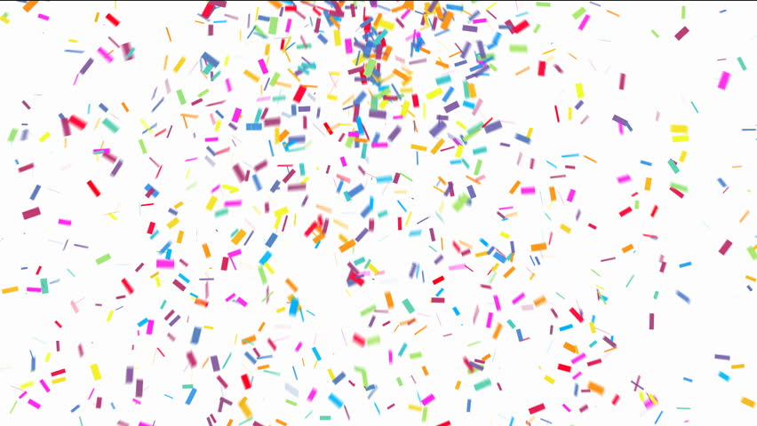 Animation of Colorful Confetti Falling Stock Footage Video (100%  Royalty-free) 8047054 | Shutterstock