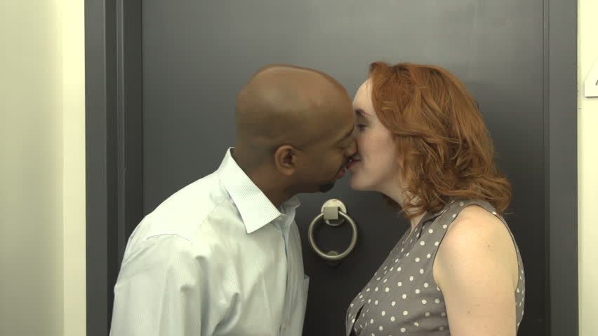 Stock Video Of A Mid-Shot Of An Interracial Couple -1405