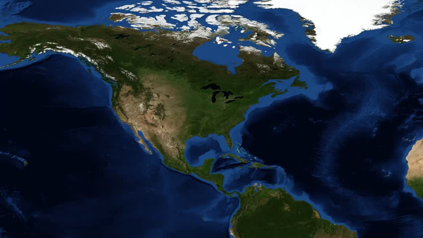USA Map And American Flag From Space The United States Of - Us map lights