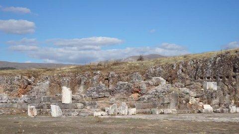 Ruins of temple in Antioch in Pisidia near Yalvac, Turkey