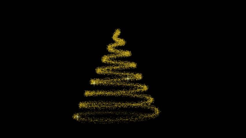 Flowing Light Christmas Tree Hd Computer Animated