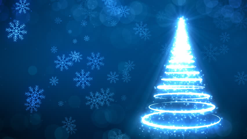 Abstract Christmas Tree Animation With Stock Footage Video