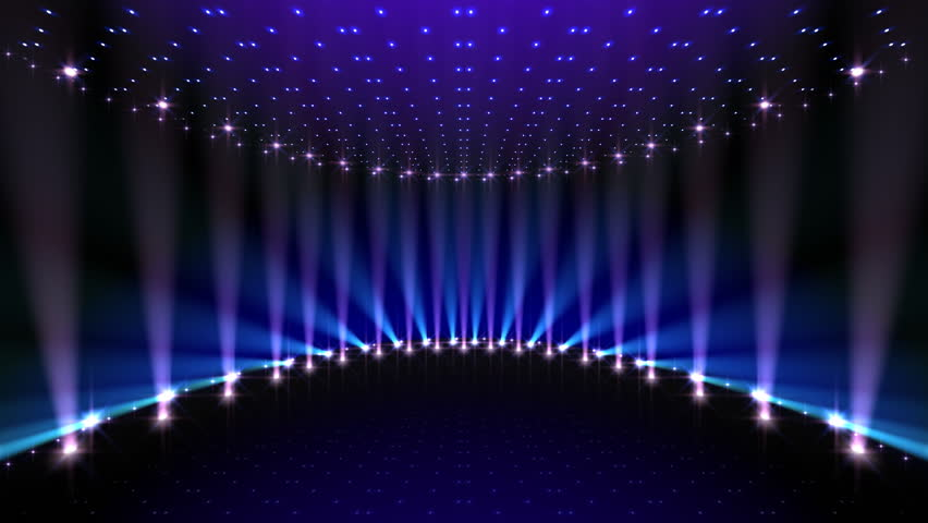Brilliant Light Effects Background Elegant Hd Light: Empty Stage At Concert With White And Blue Spotlights