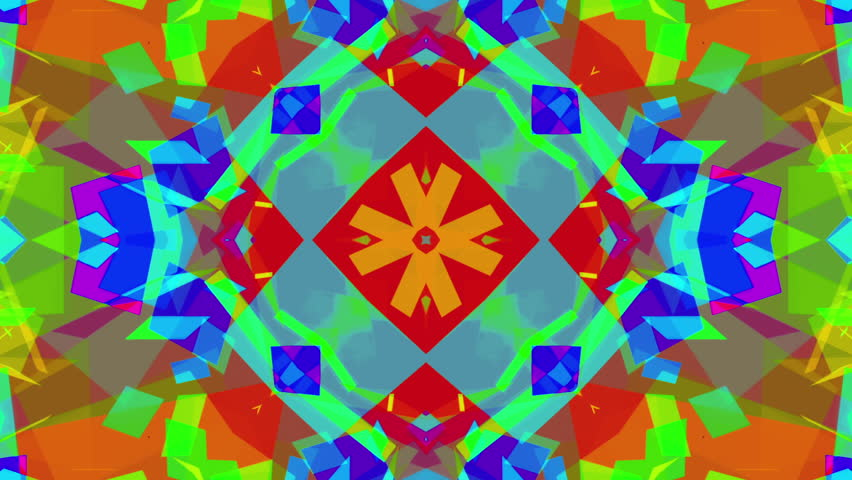 Fast Psychedelic Colorful Kaleidoscope VJ background loop 6 Complex and very fast. Mandatory epilepsy warning. Easy to tint or otherwise modify.