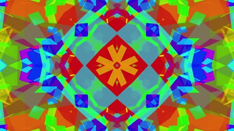 Fast Psychedelic Colorful Kaleidoscope VJ background loop 6