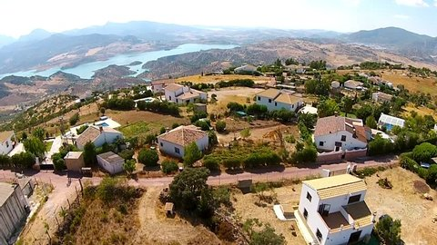 Andalusian valey aerial view