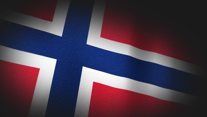 4K 3D Animation of Norway, norwegian Flag Closeup, highly detailed with fabric canvas and sewing seams texture.  Source: Adobe After Effects | Shutterstock HD Video #8207104