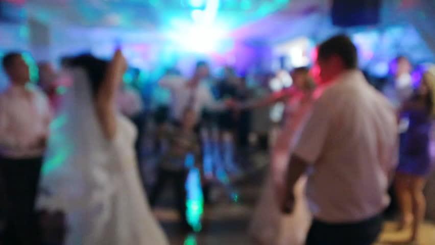 dancing at the wedding dance floor