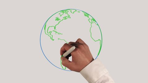 Earth Rotation Whiteboard Animation with Sound