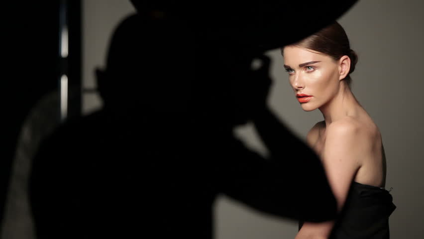 Fashion shooting in studio