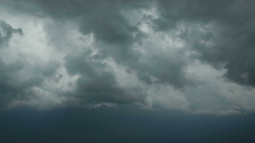 Storm clouds. Timelapse without birds and defects