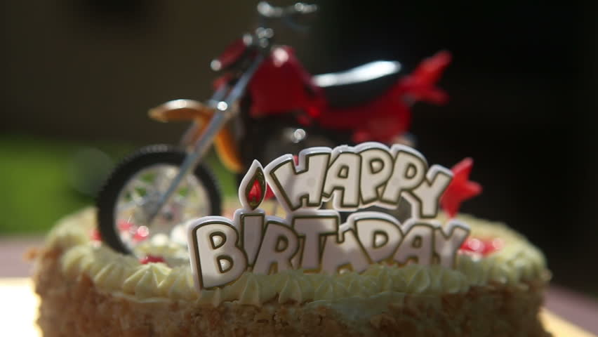 Close Up Birthday Cake With Stock Footage Video 100 Royalty Free
