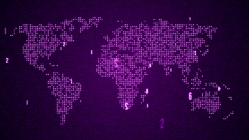 Abstract world map with route lines and colorful dots ideal for digital world map seamles loop animation 4k purple color other color in gumiabroncs Image collections