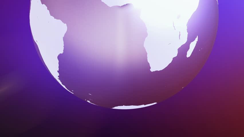 Line Art Earth : Earth art background loop simple animation of globe rotating with