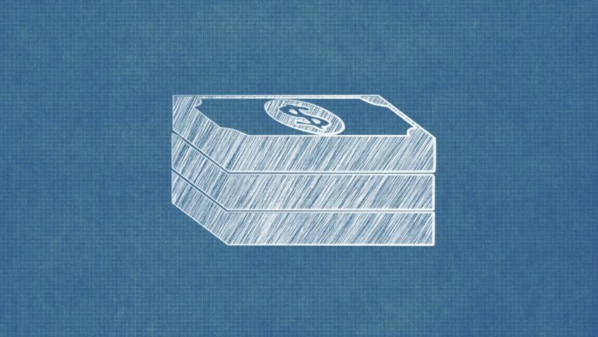 Stack of bills money blueprint stop motion style animation stock stack of bills money blueprint stop motion style animation stock footage video 8367994 shutterstock malvernweather Image collections