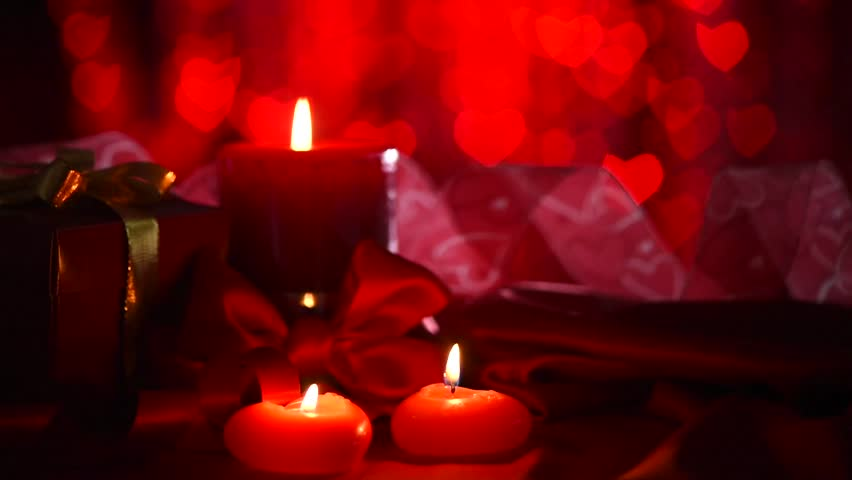 Valentine S Day Beautiful Valentine Scene With Red Hearts