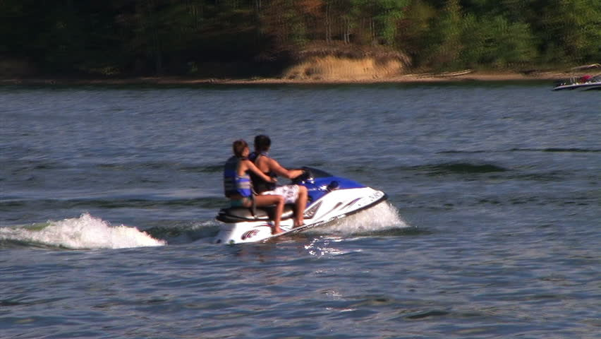 Couple on waverunner - audio from external microphone.