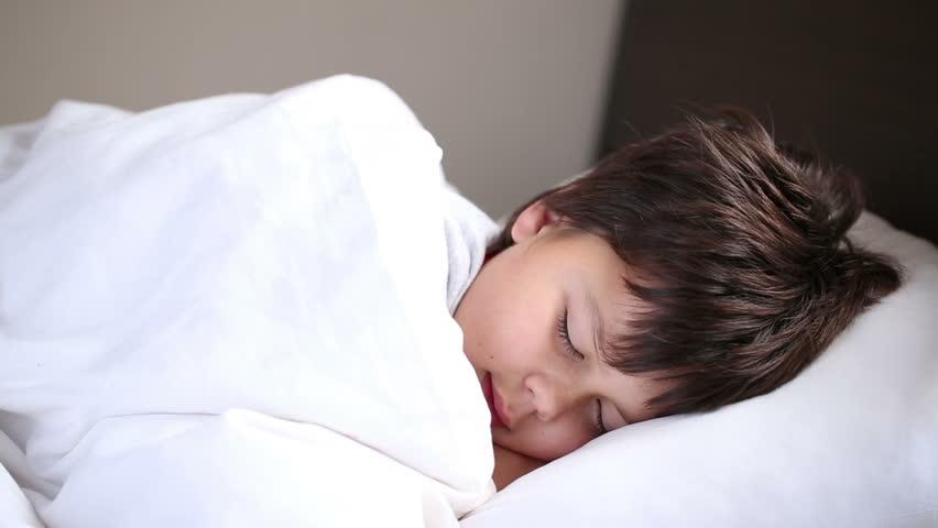 little boy sleeping - HD stock footage clip