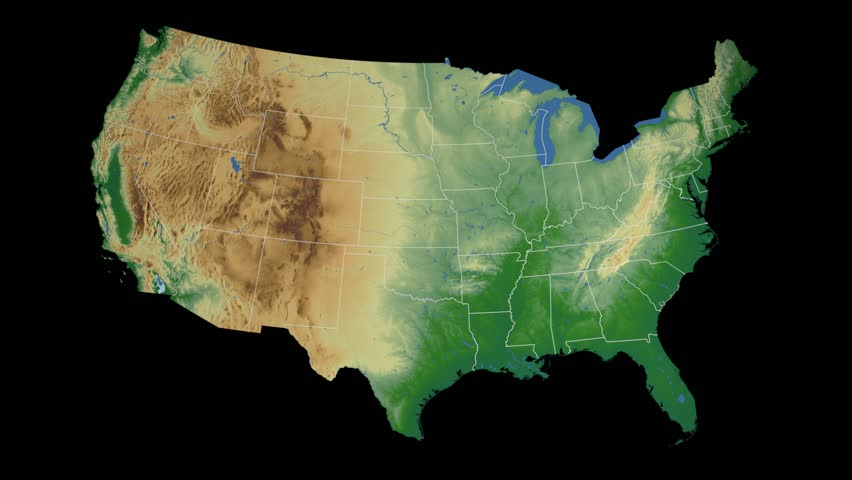 Usa South Carolina State Columbia Extruded On The Physical Map Of The United States In The Azil Equidistant Projection Isolated On Black